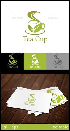 Tea Cup Logo Design Template Vector #logotype Download it here: http://graphicriver.net/item/tea-cup-logo-template/10305862?s_rank=384?ref=nexion
