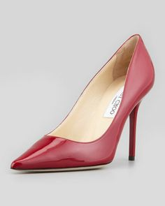 Abel Patent Pointy Pump, Red by Jimmy Choo at Neiman Marcus.