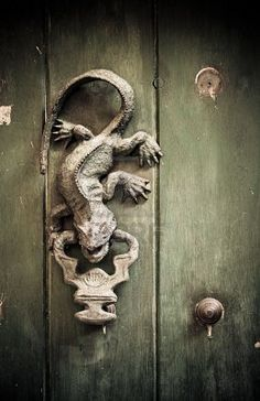 Lizard door knocker.