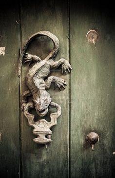 Lizard door knocker.