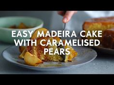Simple Madeira cake with caramelised pears | Woolworths.co.za Yummy Treats, Sweet Treats, What To Make, Pears, High Tea, Caramel, The Creator, Cooking Recipes, Wood