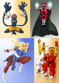 Sesame Street Fighter. One of these is on Taymai.com. Here are some more.. #taymai