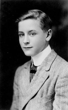 F. Scott Fitzgerald as a young man - @~ Mlle  CURIOUSLY looks like Toby Maguire.