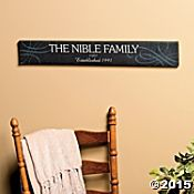 """Personalized """"Established"""" Family Sign"""