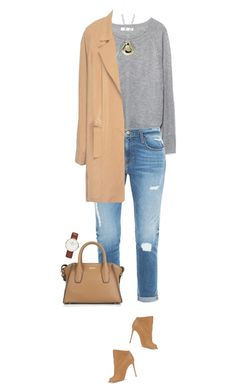 """Casual luxe !"" by azzra on Polyvore featuring Zara, Frame Denim, Casadei, DKNY, Daniel Wellington, women's clothing, women, female, woman and misses"