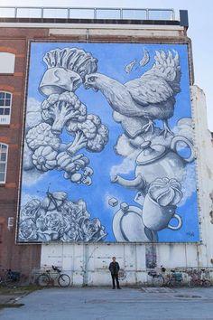 Superschildering van Michel Velt | De Wolkenfabriek