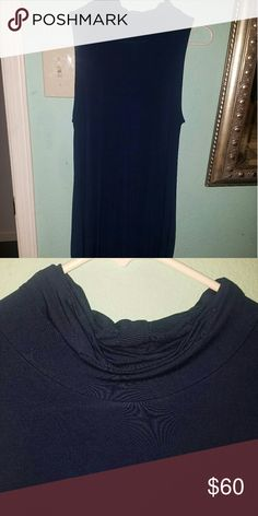 Mock turtle neck dress Such a cute dress, just never wore it. Has pockets very loose fitting. All prices  are negotionable use the offer button and be reasonable. Will consider trading as well. Dresses Strapless