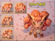 Paperpokés - Pokémon Papercrafts: VULPIX - Valentines Week Special Yey :'D The pokemon this evolves into is one of my all time favorites :3 Pokemon, Papercraft Vulpix for kids, Papercraft Vulpix, Papercraft, awesome, cute, cool, nintendo, Vulpix