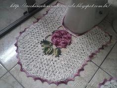 Execução da folha e união com a flor para tapetes em crochês - YouTube