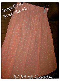 DIY Asymmetrical Skirt: Step One  A perfect solution to shorten a long dress or skirt!  Love it