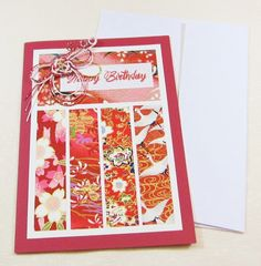 Happy Birthday Card - Origami and Mizuhiki (HB 039)