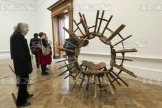 Ai Weiwei press preview at the RA London, Britain - 15 Sep 2015  Artwork titled Grapes (2010) by artist Ai Weiwei 15 Sep 2015