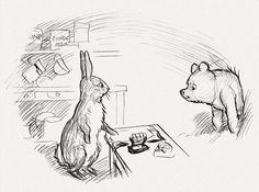winnie the poo illustrations, by E.H. Shepard