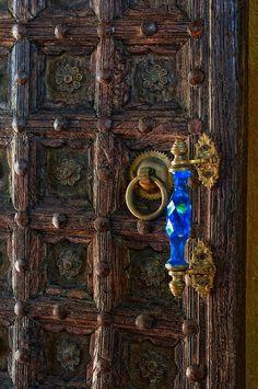 Blue Crystal Door Knob