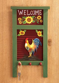 Enhance the beauty of your interior by using the metal tree wall art Rooster Kitchen Decor, Rooster Decor, Rooster Art, Kitchen Redo, Kitchen Ideas, Country Decor, Farmhouse Decor, Country Life, Washboard Decor
