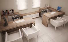 Great concept, just add colour Corporate Office Design, Office Cabin Design, Law Office Decor, Small Office Design, Office Interior Design, Office Interiors, Office Desk, Office Floor Plan, Decoration