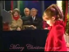 Cute 4 year old girl sings for the president