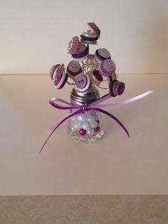 Purple Button Bouquet