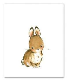 trafalgars square Bunny & More Woodsie Four-Piece Print Set | zulily