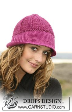 """Elementary - Knitted DROPS hat in """"Karisma Superwash"""" with wide crochet bottom edge. - Free pattern by DROPS Design Knitting Club, Loom Knitting, Knitting Patterns Free, Knit Patterns, Free Knitting, Free Pattern, Drops Patterns, Crochet Hook Sizes, Knit Or Crochet"""