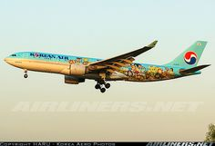 Korean Air's new special livery wrapped by children's painting is approaching short final thanks to - Photo taken at Seoul - Gimpo International (GMP / RKSS) in South Korea on October Hobbies For Kids, Rc Hobbies, Korean Air, Childrens Artwork, Passenger Aircraft, Airplane Design, Aircraft Pictures, Pilot, Aviation