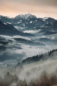 Tirol / AustriaThe Sun sets after a nice day of wintersports. View from the
