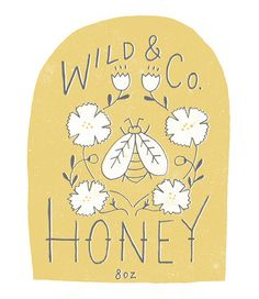 honey label design | Julianna Swaney