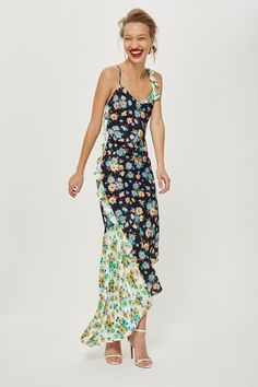 5c641621e4cc Mixed Pansy Ruffle Slip Dress - Topshop USA Best Wedding Guest Dresses