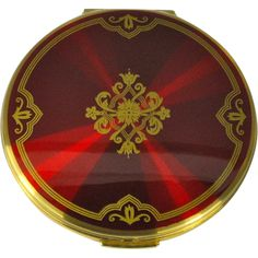 Vintage Stratton Red Enamel Powder Compact - available from The Vintage Jewelry Boutique on Ruby Lane.
