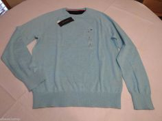 Men's Tommy Hilfiger long sleeve soft sweater shirt 7844968 Aqua Heather 477 S #TommyHilfiger #sweater