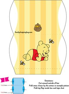 Favor Box, Winnie The Pooh, Favor Box - Free Printable Ideas from Family Shoppingbag.com