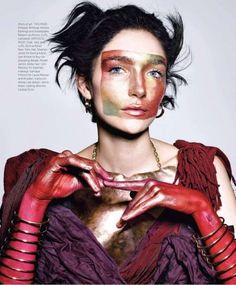 Harper's Bazaar's Avant-Garde Makeup Look // Richard Burbridge // #beauty #editorial