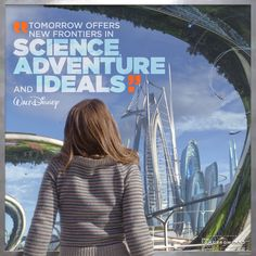 Be the future! #Tomorrowland Disney Parks, Walt Disney World, Disney Pixar, Walt Disney Animation Studios, Film Serie, Disney Quotes, Science For Kids, Disney Love, Live Action