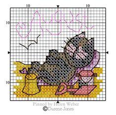 Cross Stitch Embroidery, Cross Stitch Patterns, Cat Calendar, Cross Stitch Animals, Stuffed Animal Patterns, Farm Animals, Comics, Cats, Cat Stuff