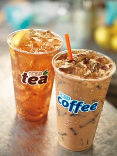 The summer version of hot tea and hot coffe