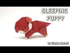 Origami DOG - Sleeping Puppy by Shoko Aoyagi - Yakomoga Origami tutorial - YouTube