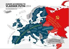 Europe According to Vladimir Putin - Vivid Maps