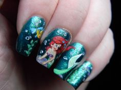 AMAZING! I LOVE THESE NAILS!! I love The Little Mermaid !