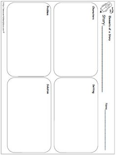 Elements of Story Organizer Worksheets