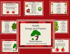 Free Here is a collection of 7 Apple Songs and Poems for your class to enjoy. Away Up High in an Apple TreeGod Gives Us Apples on a TreeI Love R...