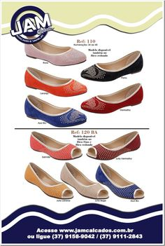 Sapatilhas Femininas Ref. 110 e 120BA | JAM Calçados