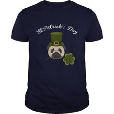 Personalized Name Patrick's Day Pug Funny St Patrick's day Patrick's Day Pug - Tshirt T-Shirts