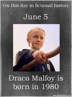 (Source) (Source) Name: Draco Malfoy Birthdate: June 1980 Sun Sign: Gemini Animal Sign: Metal Monkey Harry Potter Facts, Harry Potter Quotes, Harry Potter Books, Harry Potter Love, Harry Potter Universal, Harry Potter Fandom, Harry Potter World, Harry Potter Characters Birthdays, Slytherin