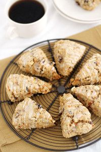 Morning Glory Scones {Guest Post by Stephanie of Girl Versus Dough} - A Cedar Spoon
