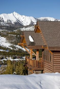 """Log """"cabin"""" in the mountains..."""