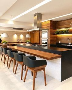 Modern Kitchen Design – Want to refurbish or redo your kitchen? As part of a modern kitchen renovation or remodeling, know that there are a . Kitchen Room Design, Modern Kitchen Design, Kitchen Colors, Home Decor Kitchen, Interior Design Kitchen, Kitchen Ideas, Modern Bar, Kitchen Dining, Apartment Kitchen