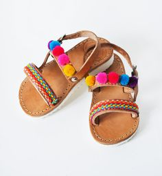 290880d0da5 OFFER LAST piece ! NO. 21 Multicolor kids sandals with pom pom,handmade  Greek Children Sandals, Girl Straps Sandals Kids sandals, kids shoes