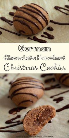 German Chocolate, Chocolate Hazelnut, Chocolate Cookies, Austrian Recipes, German Recipes, Cookie Recipes, Dessert Recipes, Desserts, Canadian Butter Tarts