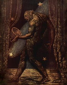 Dream of a Flea William Blake. Factoid: William Blake once worked in John Raphael Smith's mezzotint engraving and printing business. William Blake Paintings, William Blake Art, Illustrations, Illustration Art, Scary Paintings, English Poets, Ex Machina, Opus, Oeuvre D'art