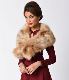 Add a touch of vintage inspired glamour with this faux fur stole from Unique Vintage.